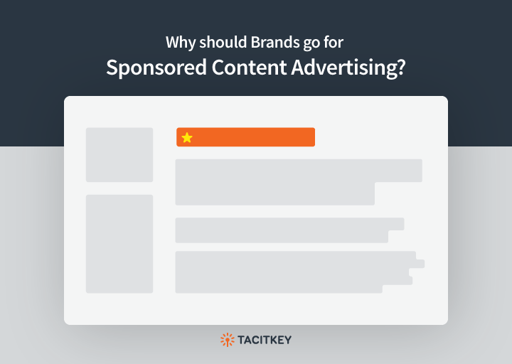 Why brands should go for sponsored content advertising