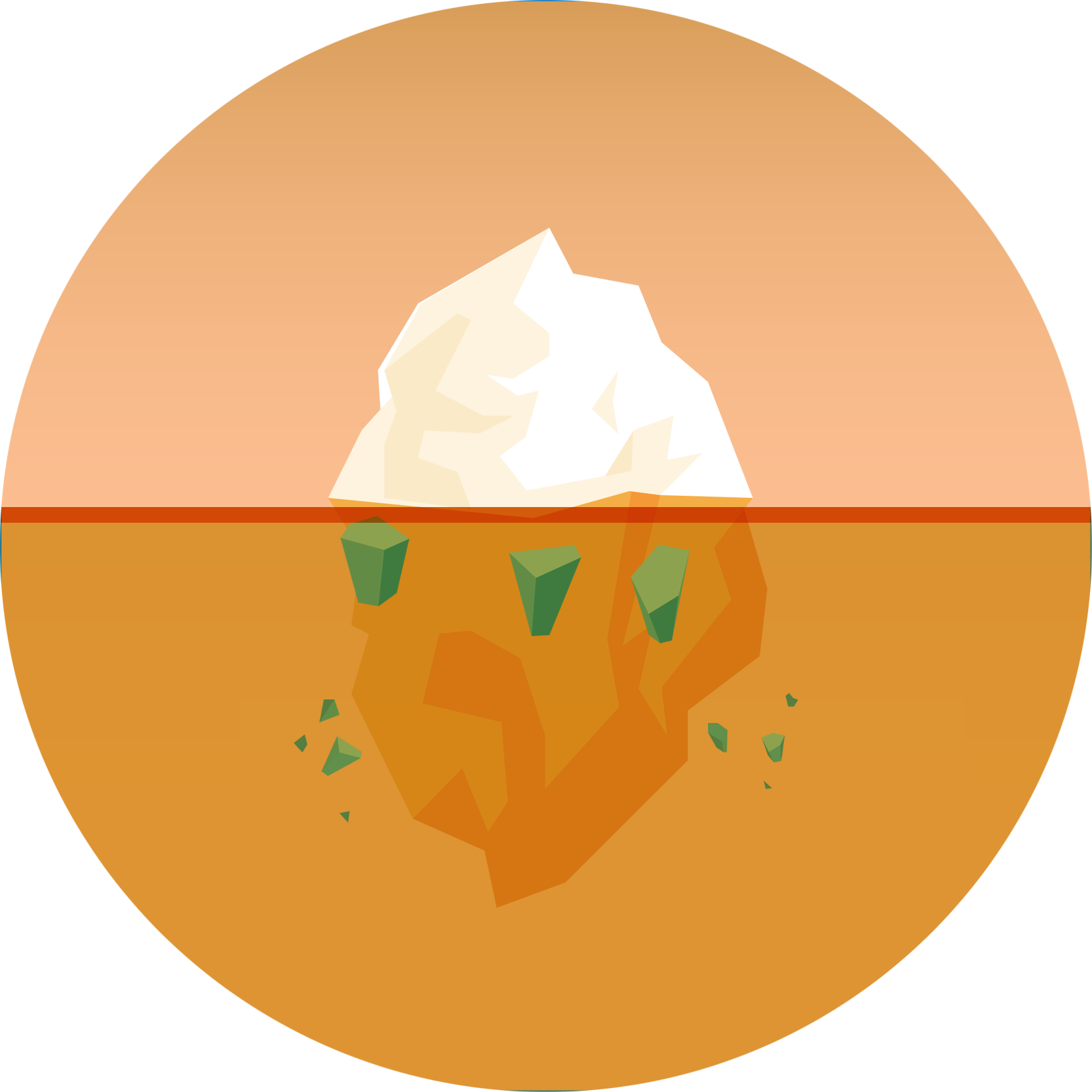 Iceberg graphic